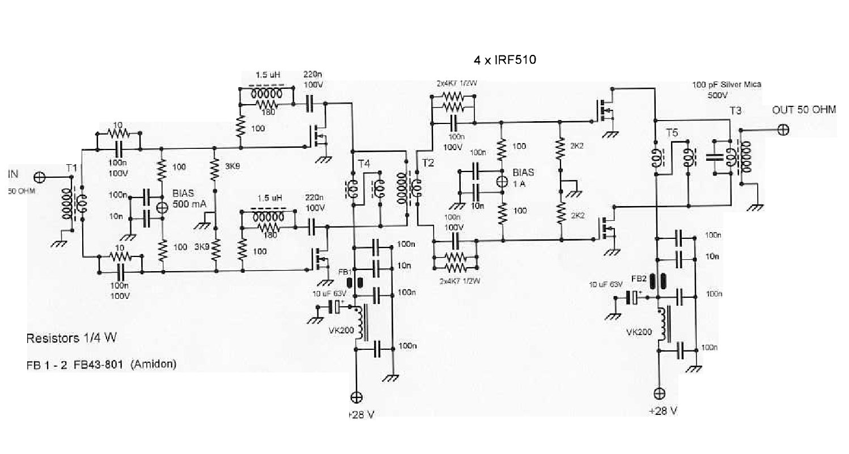 Qrp Rf Amplifier Schematic Automotive Wiring Diagram Yo3dac Homebrew Circuit Design Ideas Radio Transmitter Simple Cb Broadband Power 1 8 30 Mhz Fahriemjeblog Symbol